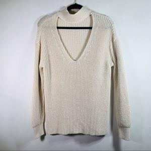 Zara Knit Keyhole Sweater